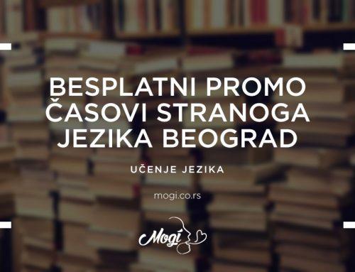 Besplatni promo časovi stranoga jezika Beograd