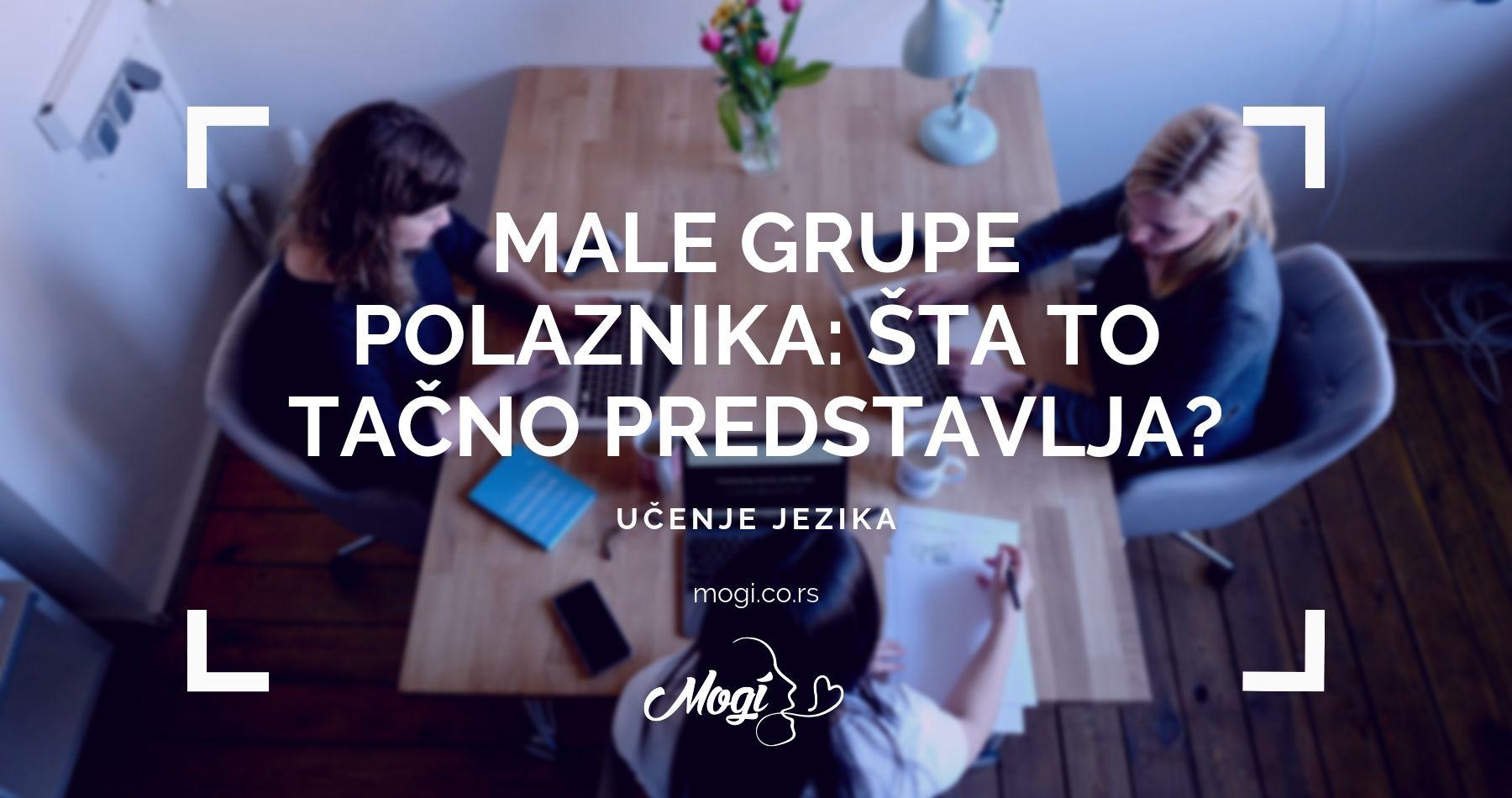 Mala grupa za kvalitetnije učenje stranog jezika podrazumeva tri do četiri polaznika u školi za jezike Mogi Beograd