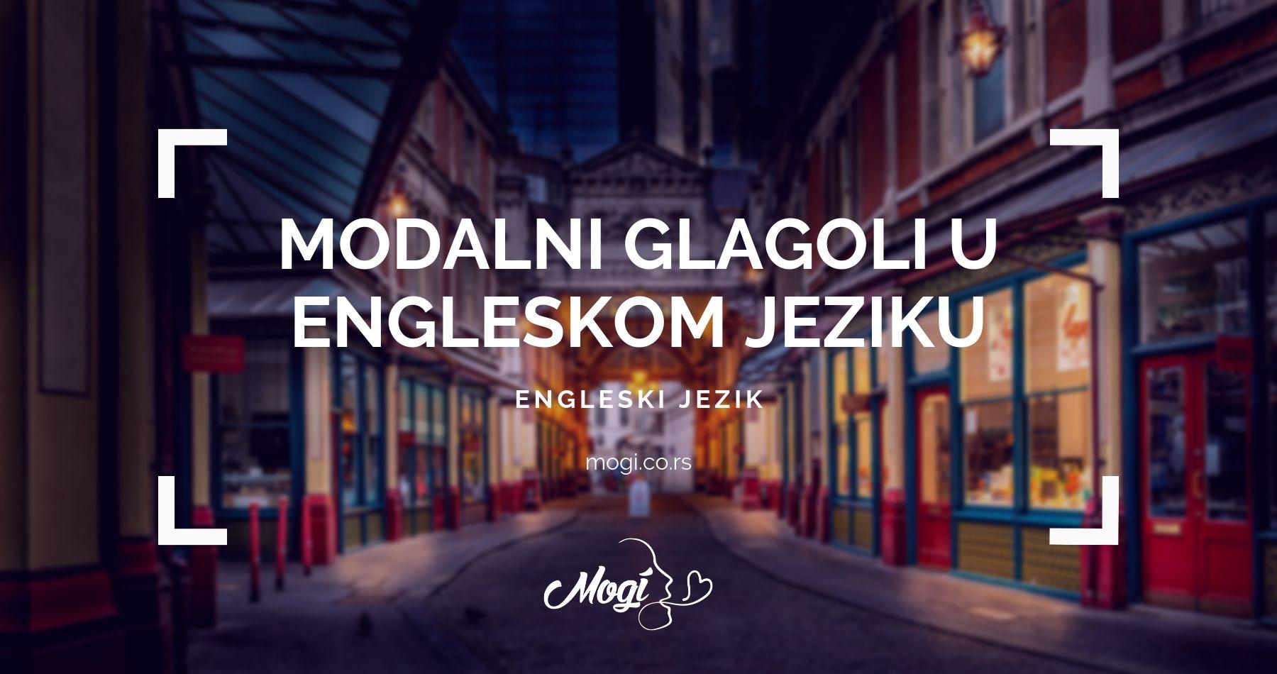 Modalni glagoli u engleskom jeziku