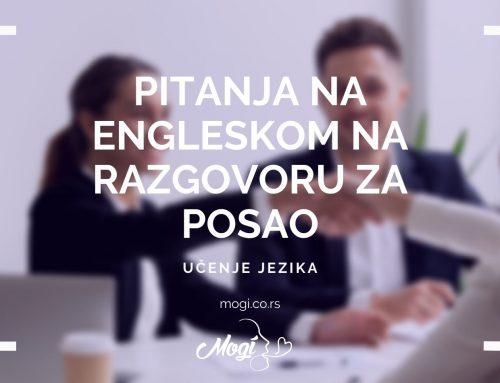 Pitanja na engleskom na razgovoru za posao
